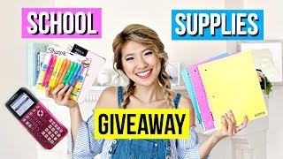 Back to School Supplies Haul 2017! Giveaway!