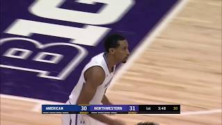 First Half Highlights: American at Northwestern | Big Ten Basketball