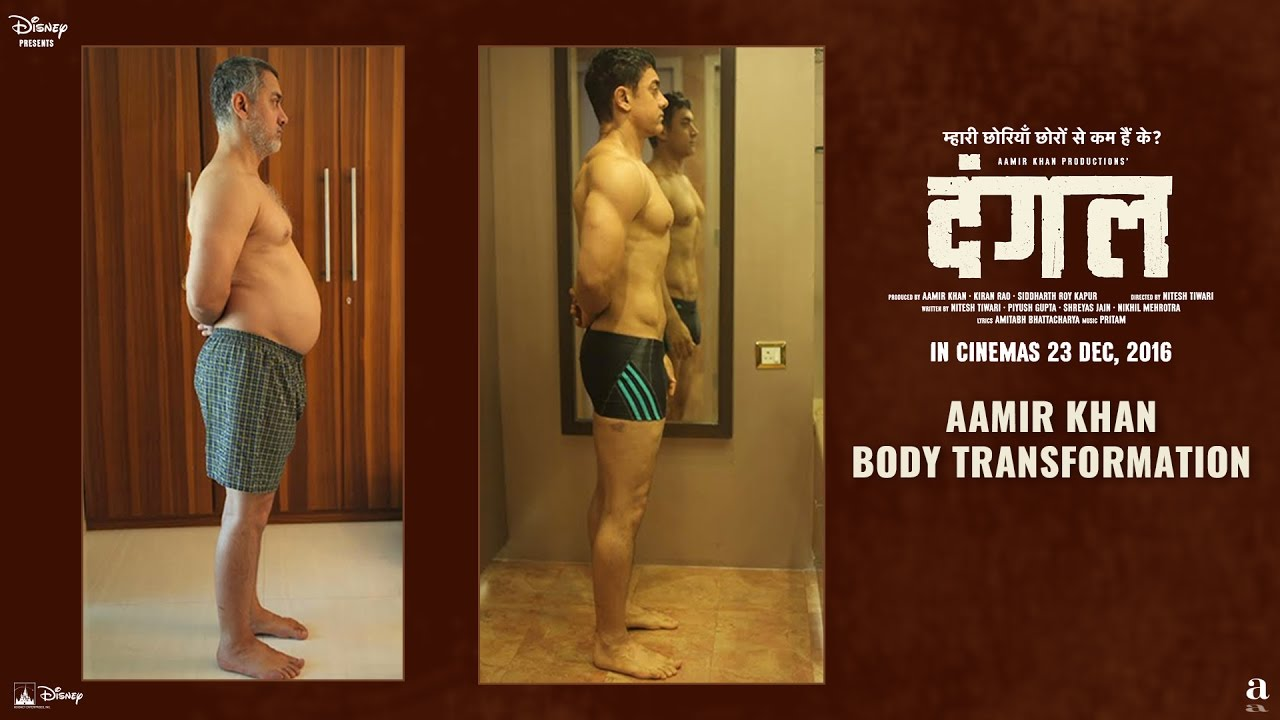 Fat To Fit | Aamir Khan Body Transformation | Dangal | In Cinemas ...