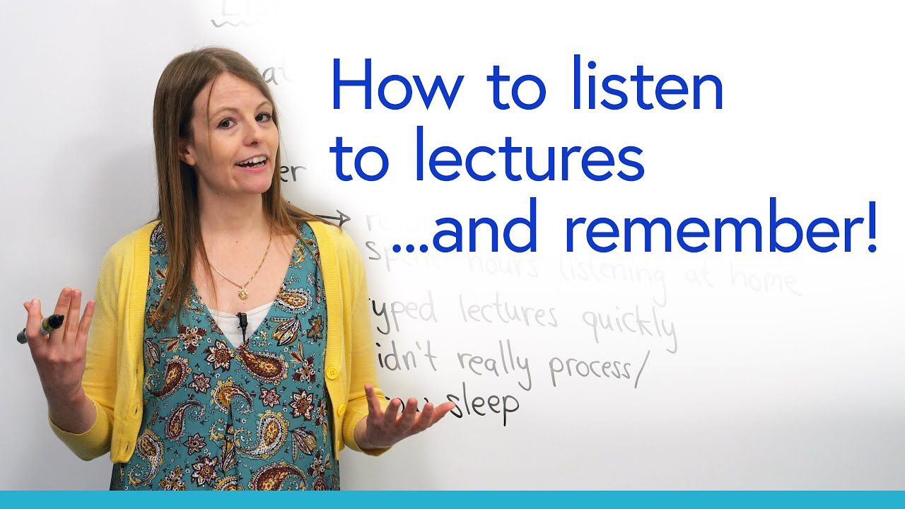 How to listen to lectures: Understand & remember with these strategies