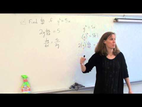 Price AP Calculus AB 2-5 Implicit Differentiation