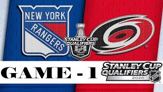 New York Rangers vs Carolina Hurricanes | Aug.01, 2020 | Play out Game 1 | NHL 2019/20 | Обзор матча