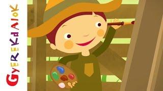 Két szál pünkösdrózsa (Gyerekdalok és mondókák, rajzfilm gyerekeknek)