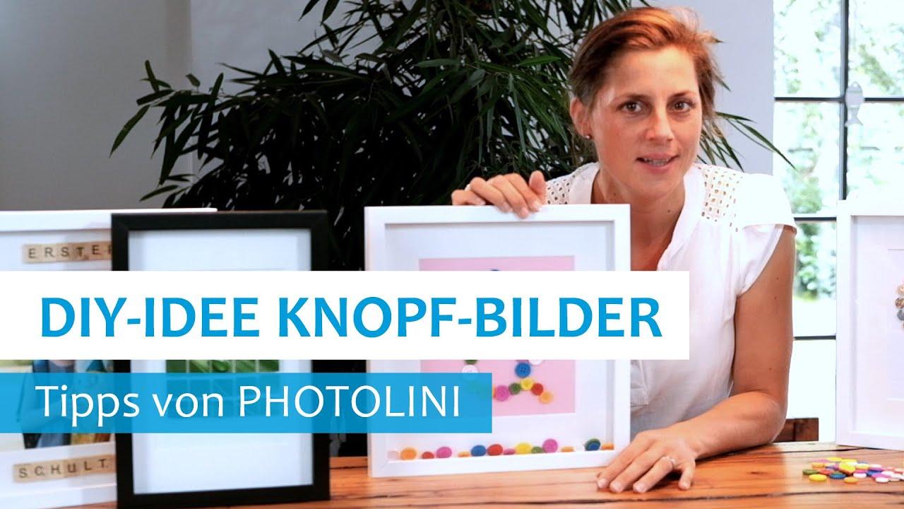 Bilderrahmen DIY Deko Idee Mit Knöpfen Gallery