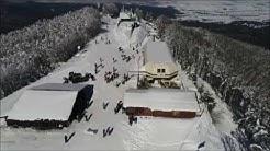 Piste da sci di Camigliatello Silano dal DRONE - inverno 16/17