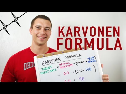 How to use the Karvonen Formula (Target Heart Rate Calculation) for NSCA CSCS Exam