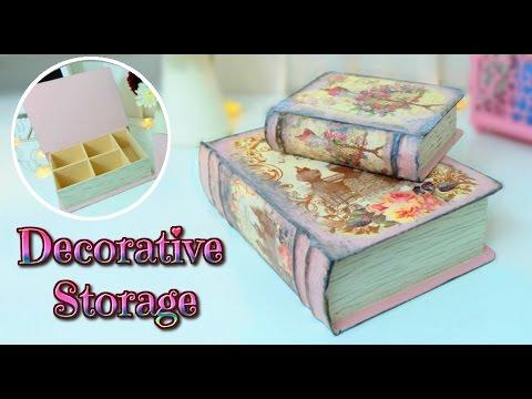 Diy Vintage Book Storage Box Tutorial