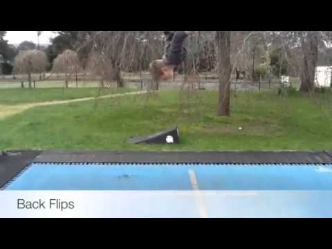 Trampoline tricks you can teach yourself