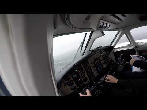 Beechcraft Super King Air 200 - Turbulent approach at San Fernando Airport (ARG)