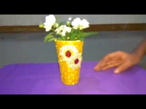 How To Make Flower Pot From Waste Material Youtube