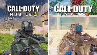 Call of Duty Mobile VS Call of Duty Black Ops 3 COMPARISON