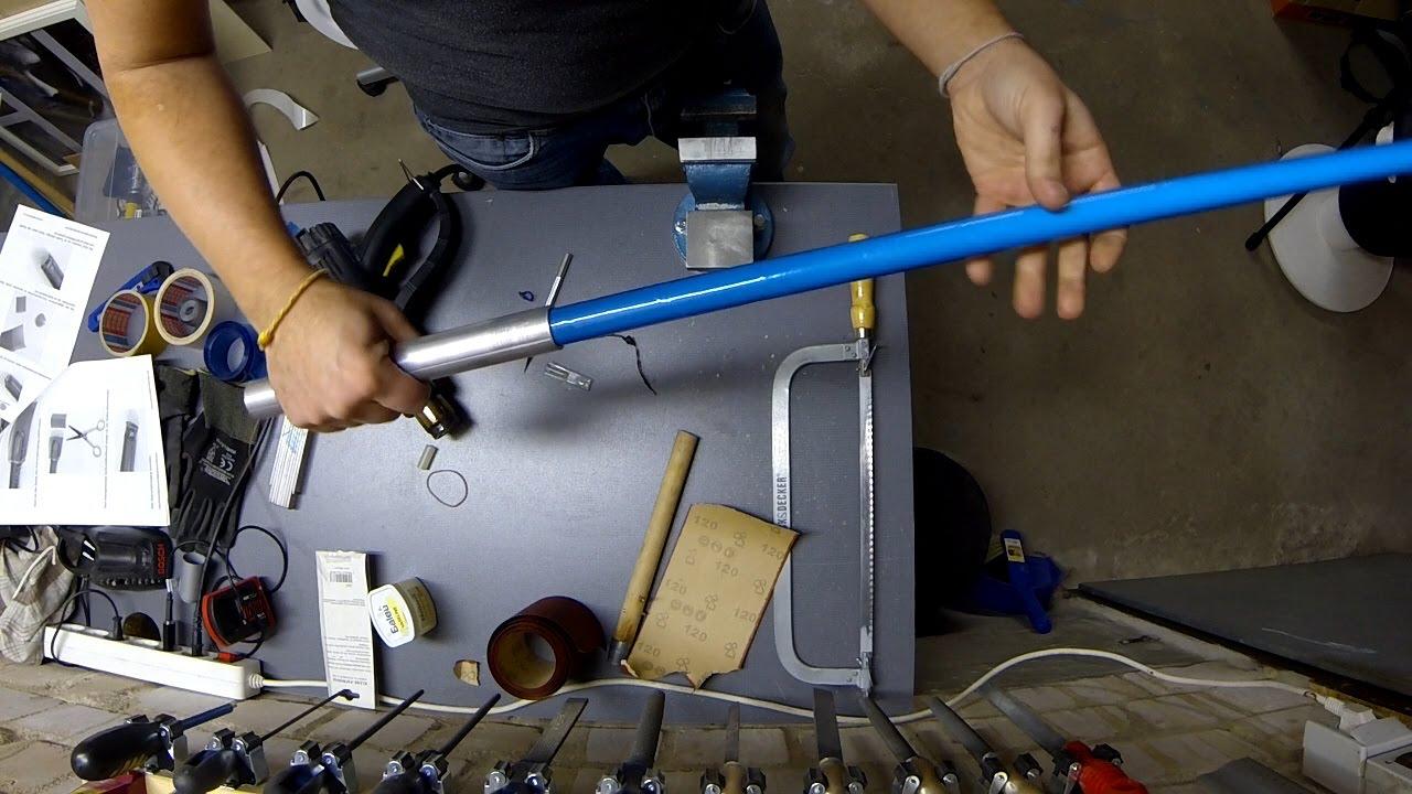 Lichtschwert selber bauen teil 1 basisrohr klinge youtube - Mobelstucke selber bauen ...