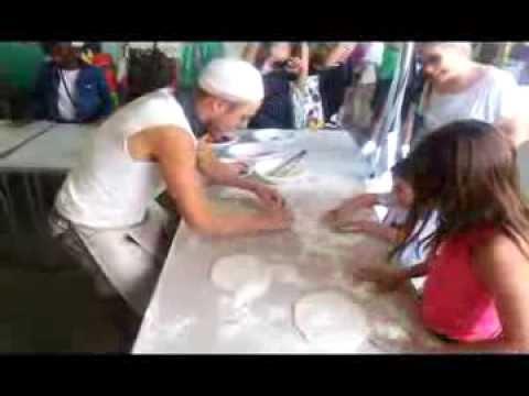 Kids Pizza making at the South Bank, London