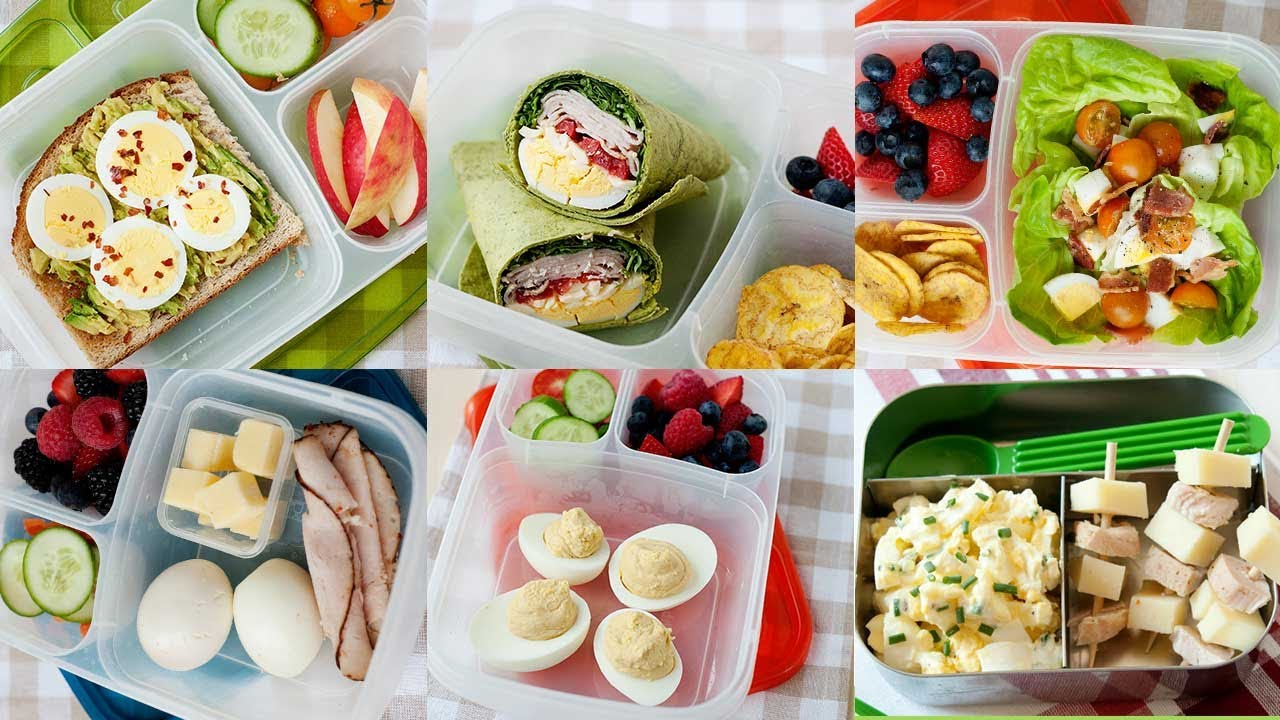 5 Healthy School and Office Lunch Ideas with Hard Boiled ...