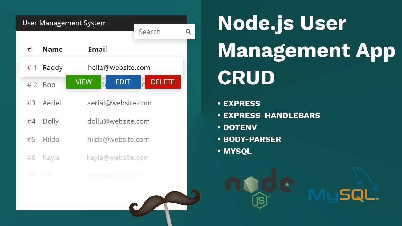Build a Basic User Management System using Node.js, Express and MySQL