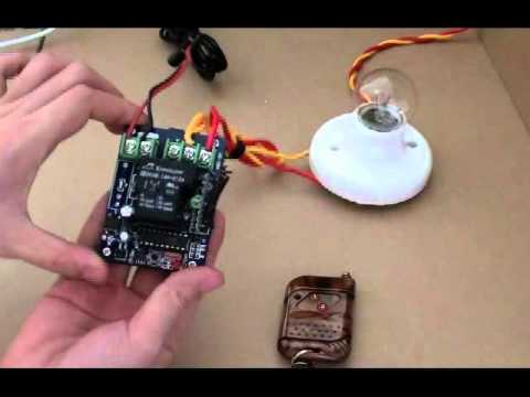 12v 30a High Power Rf Remote Controller Operation Youtube