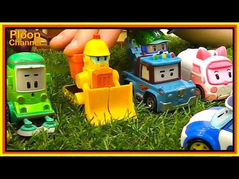 Thumbnail: TOY TRUCKS PARTY! Robocar Poli Birthday Stories for kids. Best Learning Videos for kids Toy Cars!