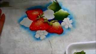 COMO PINTAR MORANGOS – HOW TO PAINT STRAWBERRIES – parte 3 de 4