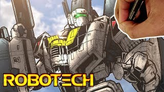 DRAWING ROBOTECH!