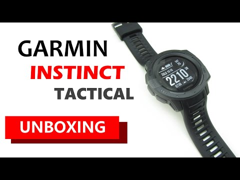Garmin Instinct Tactical Edition Black Unboxing HD (010-02064-70)