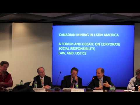 Canadian Mining in Latin America Forum and Debate at McGill