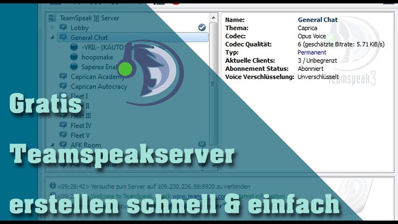Teamspeak Server Erstellen Mit Bis Zu Slots OHNE GELD AUSZUGEBEN - Minecraft server erstellen ohne geld