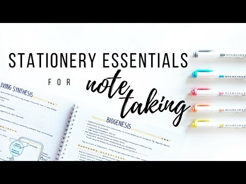 My Stationery Essentials For Note Taking - Spring 2018 | Studytee