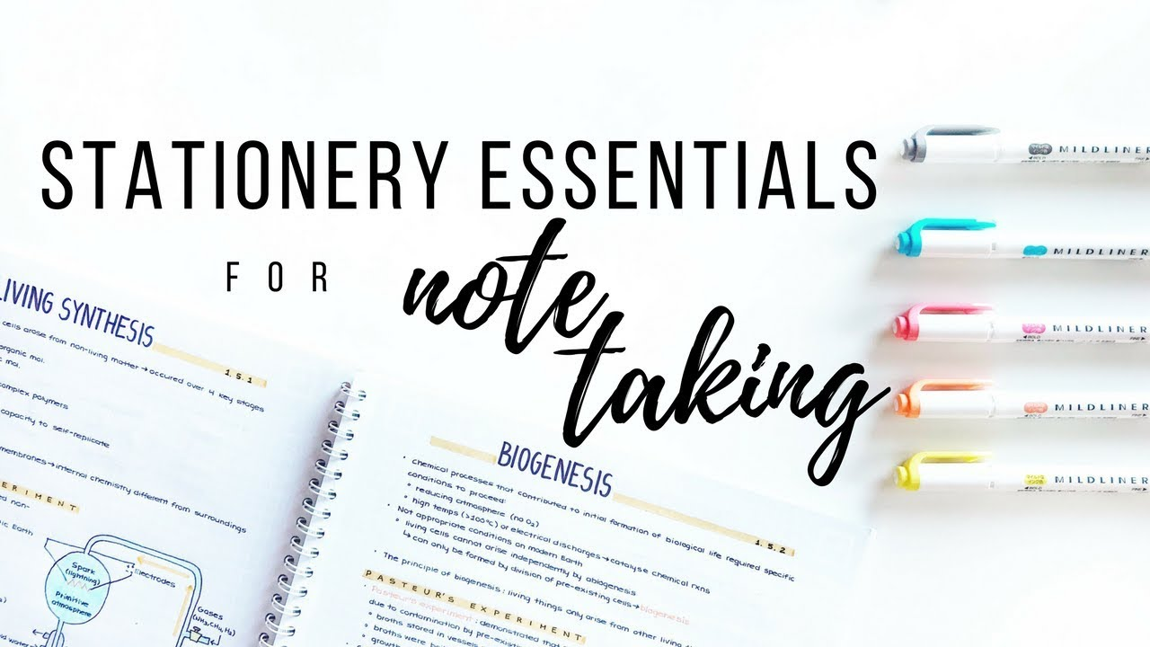 My Stationery Essentials For Note Taking Spring 2018 Studytee