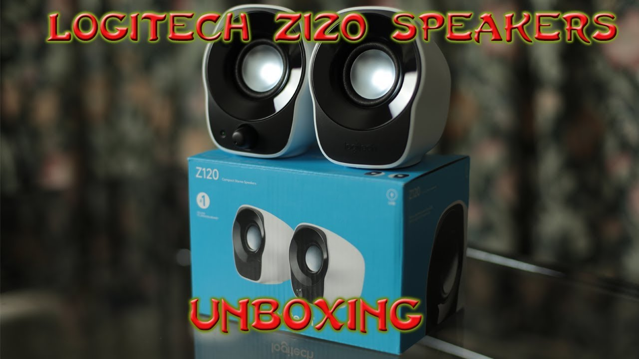 Logitech Z120 Compact Stereo Speakers Unboxing Youtube