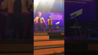 Marilyn Hickey speaking at Joseph Prince's Church in Singapore!!