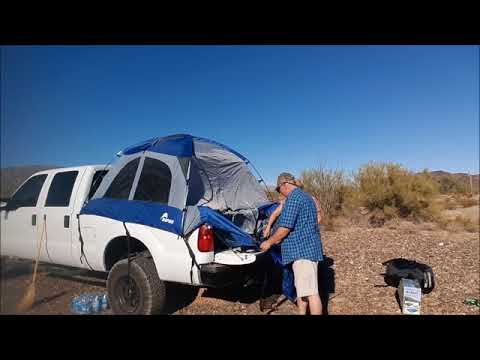 Truck Tent Camping in the Desert