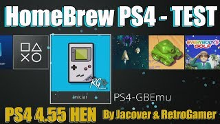 HomeBrew PS4 TEST - 4.55 HEN Primeras Creaciones  Leer Descripción del Video
