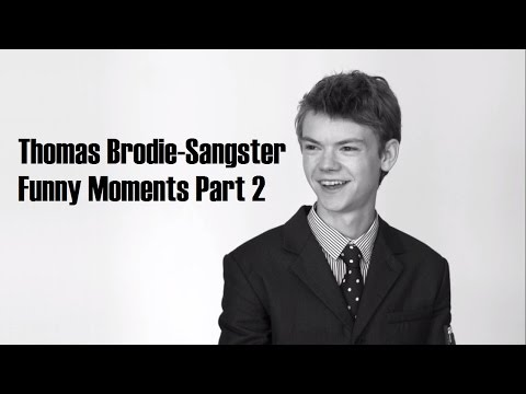 Thomas Brodie-Sangster Funny Moments Part 2