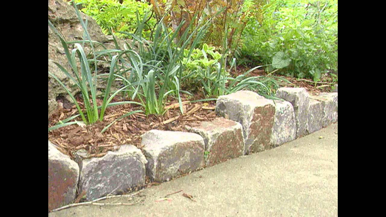 [Garden Ideas] Stone garden edging ideas - YouTube