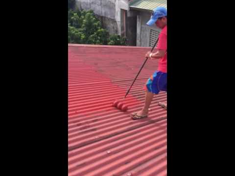 Bosny Roof Sealer Applied With Hitech Corrugated Roller