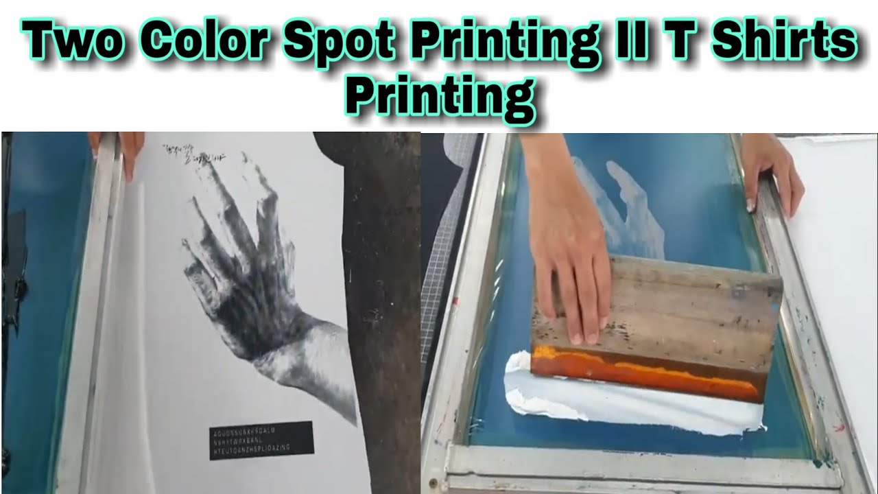 Two Color T Shirt Printing II Spot Colour Printing