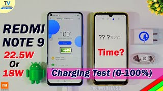 Redmi Note 9 Charging Test Time | (0-100%) Live Charging Test 22.5W or 18W Fast Charging?