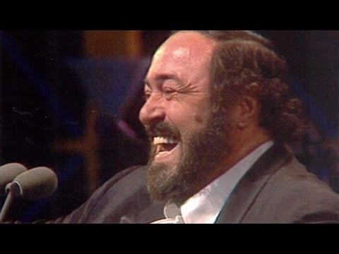 Luciano Pavarotti - 'O sole mio and speech (1998)