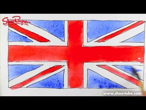 how to draw the british flag spoken tutorial youtube