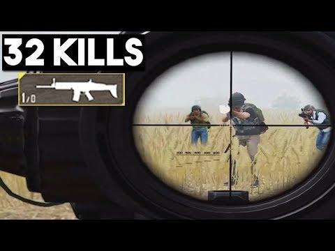 1 BULLET LEFT DURING 1 VS 4 | 32 KILLS Duo vs SQUADS | PUBG Mobile