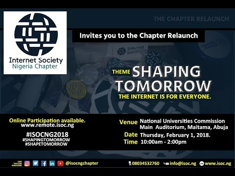 Internet Society Nigeria Chapter Relaunch 2018 - 001