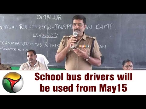 School bus drivers will be used from May 15 to beat transport workers' strike in Salem
