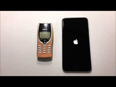Nokia 8210 vs iPhone 6s Plus Speed Test