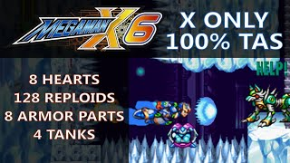 "[TAS & Item Display] Mega Man X6 ""100%, X only"" by Rolanmen1"