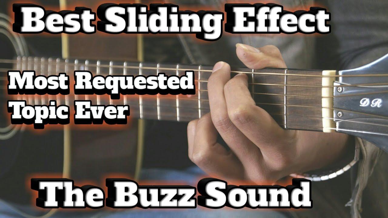 Buzz Sound Effect | Top String Sliding Effect Guitar Lesson | Guitar Adda