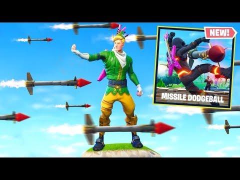 GUIDED MISSILE DODGEBALL *NEW* Custom Gamemode In Fortnite Battle Royale
