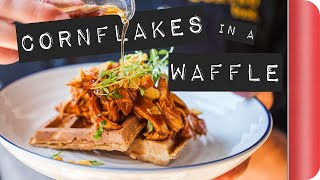 Video BBQ Corn Flakes Waffle with Maple Syrup #ad download MP3, 3GP, MP4, WEBM, AVI, FLV Agustus 2017