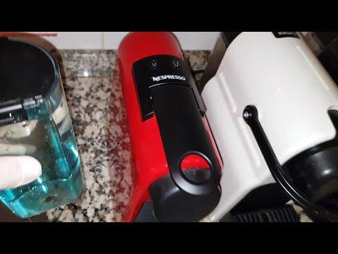 Descaling. How to descale a Nespresso Delonghi (& Krups) Essenza Mini coffee machine step by step