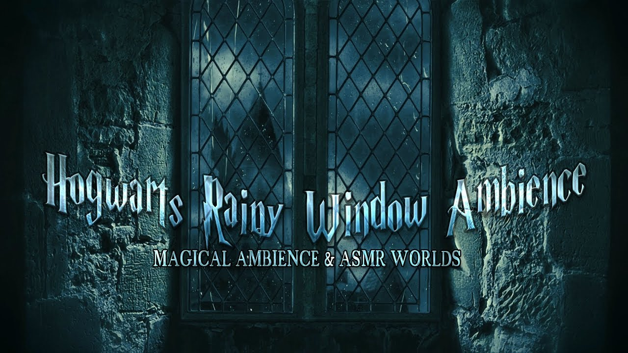 Hogwarts Rainy Window Ambience | Harry Potter Castle ASMR Animated Video | Relaxing, Study, Sleep