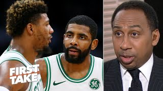 Stephen A. reacts to Marcus Smart's comments on Kyrie Irving's moods with the Celtics | First Take